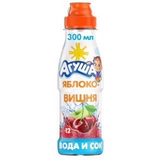 Агуша Вода с соком Яблоко-Вишня, 12мес+, 300мл — БЕЗ САХАРА
