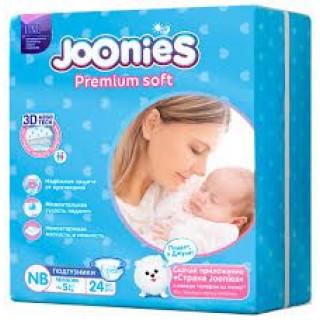 Joonies PremiumSoft Подгузники до 5 кг, 24 шт