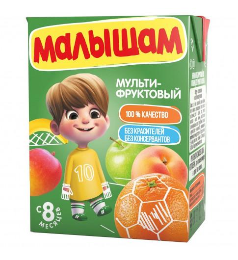 ФрутоНяня Малышам мультифрукт неосветленный, 8мес+, 200 мл