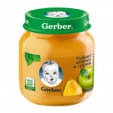 Gerber Пюре Яблоко Груша, 5мес+, 130гр