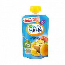 ФрутоНяня пюре Салатик из фруктов, 6мес+, 90 гр (яблокобанангруша_персик)