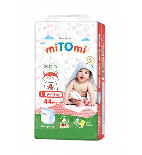 miTOmi Подгузники-трусики L (9-14 кг), 44 шт МИТОМИ