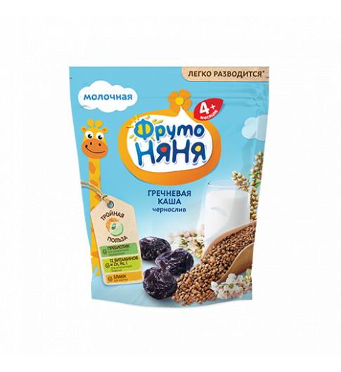 ФрутоНяня Каша молочно-гречневая с черносливом, 4мес+, 200гр