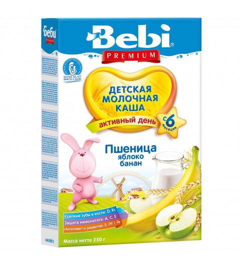Bebi Premium Каша Пшеничная яблоко, банан, 6мес+, 250гр