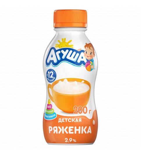Агуша Детская Ряженка Без добавок, 12мес+, 200 гр ДО 16 МАЯ