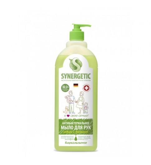 Synergetic Антибактериальное мыло Имбирь и бергамот, гипоаллергенное 1 л