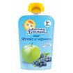 «Бабушкино Лукошко» Пюре яблоко и черника, 5мес+, 90 гр