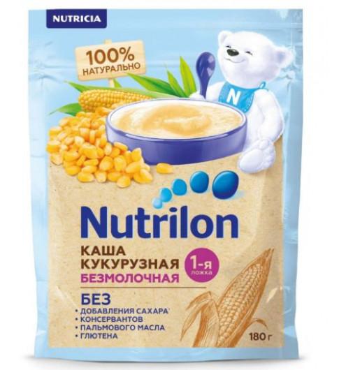 Nutrilon Каша безмолочная, Кукурузная, 5мес, 180 гр Нутрилон
