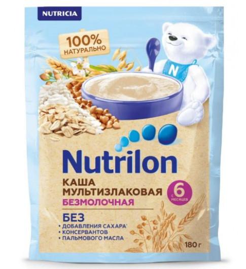 Nutrilon Каша безмолочная, Мультизлаковая, 6мес, 180 гр