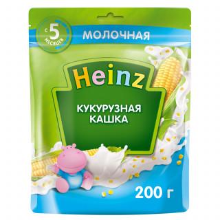 Heinz Каша Кукурузная с молоком, 4 мес+, 200гр