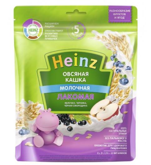 Heinz Каша Лакомая Овсяная Яблоко, Черника, Черная Смородина с молоком, 5мес+, 170 гр (хайнц)