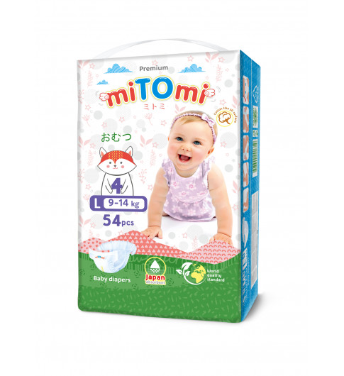 miTOmi Подгузники L (9-14 кг), 54 шт Митоми