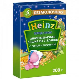 Heinz Безмолочная Многозерновая каша из 3 злаков с липой и ромашкой Перед сном c 6 мес., 200 гр. (Хайнц)