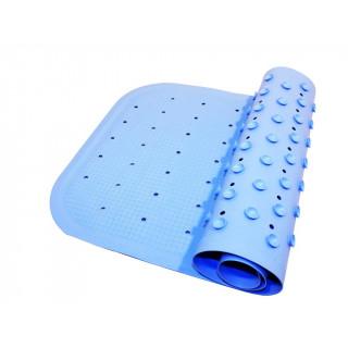 Roxy-Kids Антискользящий резиновый коврик для ванны 34,5x76 см - голубой