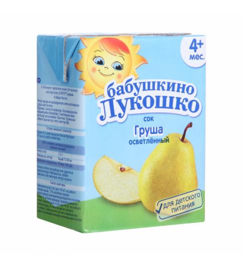 «Бабушкино Лукошко» Сок груша осветленный, 5мес+, 0,2л