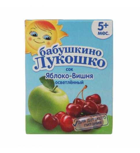«Бабушкино Лукошко» Сок яблоко вишня осветленный, 5мес+, 0,2л