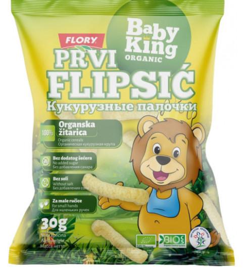 Baby King Первые кукурузные палочки, без сахара, 30 гр