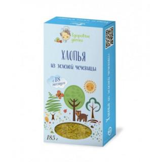 Здоровые детки Хлопья Зеленой Чечевицы, 18 мес+, 185 гр — варить 10 минутy
