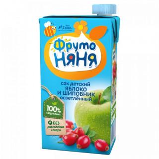 ФрутоНяня Сок Яблоко и Шиповник Осветленный, 500 мл БЕЗ САХАРА