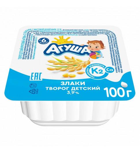 07.11 Агуша  творог Злаки, 6 мес+, 100 гр