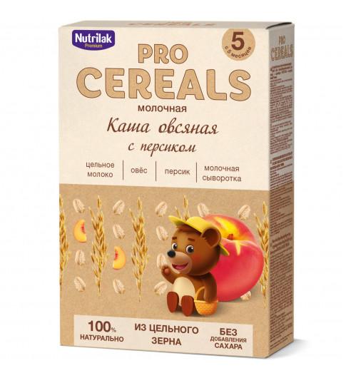 Nutrilak Premium Овсяная с персиком с молоком, Цельнозерновая, 5мес+, 200 гр БЕЗ САХАРА