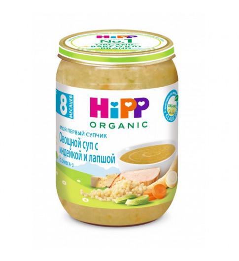 Hipp Овощной крем-суп c индейкой и лапшой, 8мес+, 190гр Хипп