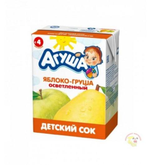 Агуша Сок Яблоко Груша Осветленный, 4мес+, 200 мл