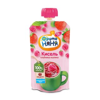 Фрутоняня Кисель Клубника и Малина, 12мес+, 130 гр с сахаром