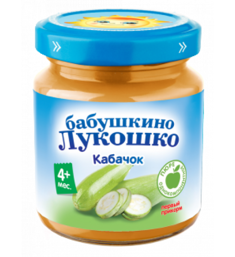 «Бабушкино лукошко» Пюре Кабачок, 4мес+, 100 г