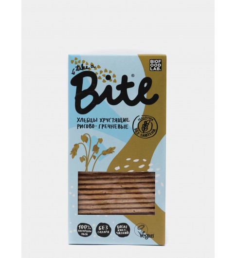 BITE Хлебцы Хрустящие Рисово-Гречневые, 150гр