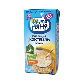 Фрутоняня Коктейль Молочный Банан, 12мес+, 200гр