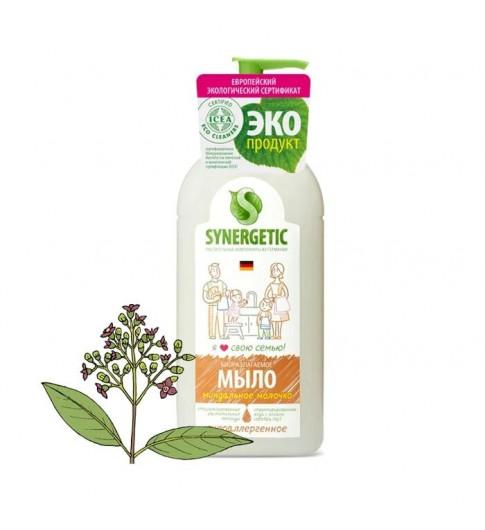 Synergetic Мыло жидкое Миндальное молочко дозатор 500 мл