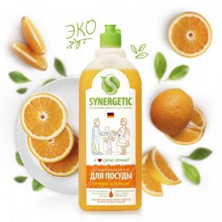 Synergetic Средство для мытья посуды Апельсин, 1 литр -  игрушек, фруктов