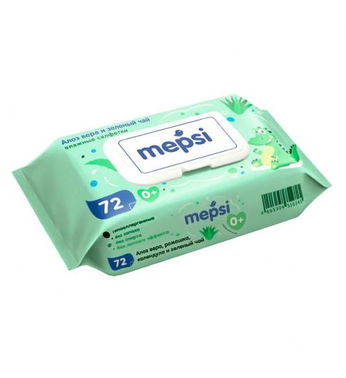 Mepsi влажные салфетки с Алое Вера, 72 шт, клапан, 0мес+