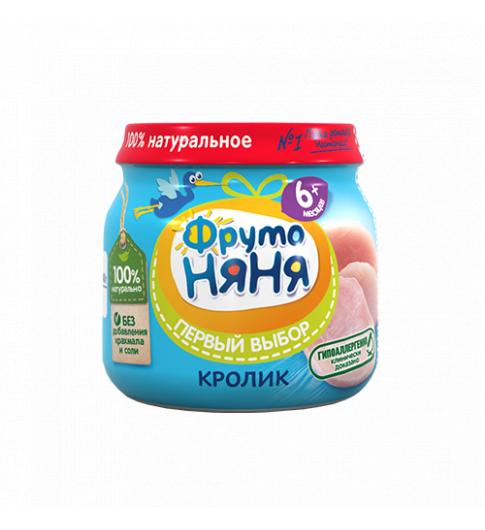 ФрутоНяня пюре Кролик, 6мес+, 80 гр