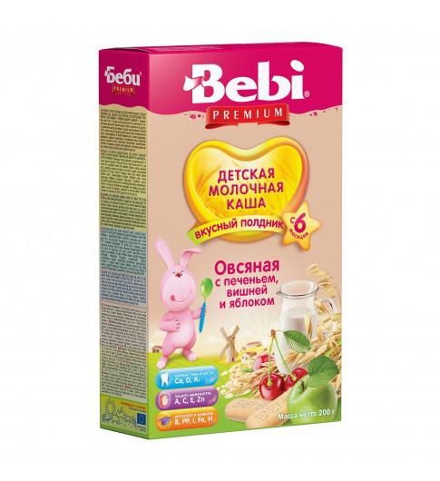 Bebi Premium Каша овсяная, печенье с вишней и яблоком, 6мес+, 200гр