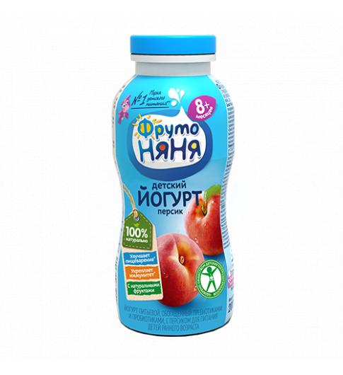 ДО 13.08 Фрутоняня Йогурт Персик, 8мес+, 200 гр