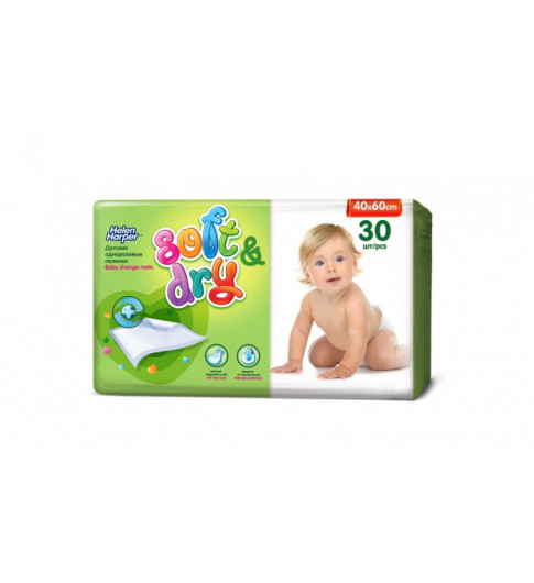 Helen Harper Детские впитывающие пеленки Soft Dry, 60*40 см, 30 шт Хелен Харпер