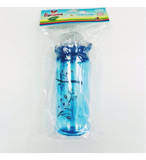 Бусинка Поильник с трубочкой, 7мес+, 360 мл  - голубой с Коалой