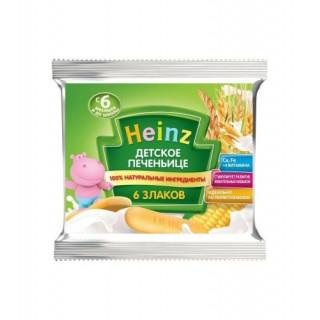 Heinz Детское печеньице 6 злаков, 6мес+, сашет 60 гр БЕЗ МОЛОКА хайнц
