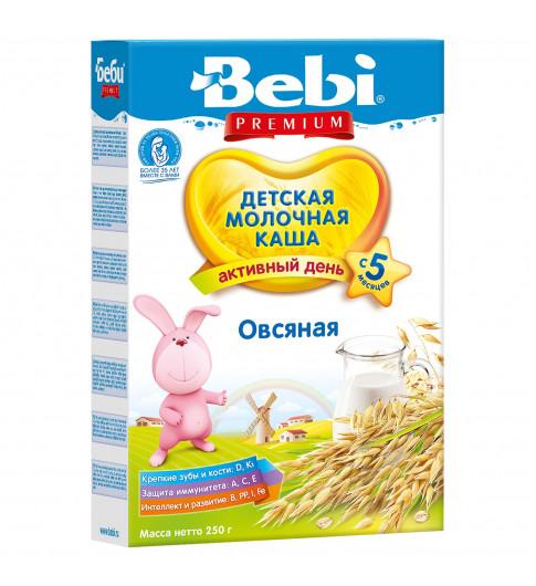 Bebi Premium Каша овсяная, молочная, 5мес+, 250 гр