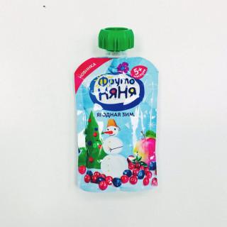 ФрутоНяня Пюре Ягодная Зима, 6мес+, 90гр