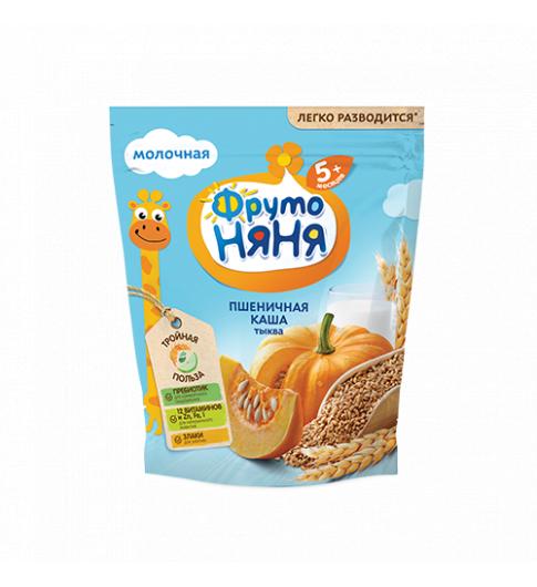 ФрутоНяня Каша молочная Пшеничная с Тыквой, 5мес+, 200 гр
