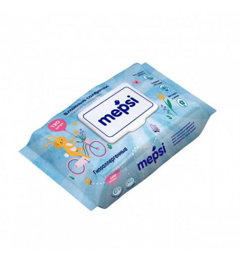 Mepsi Влажные салфетки гипоаллергенные 120 шт Мепси