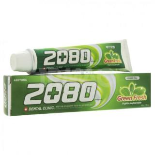 Зубная паста Kerasys Dental Clinic 2080, Зеленый чай-мята, 120 гр