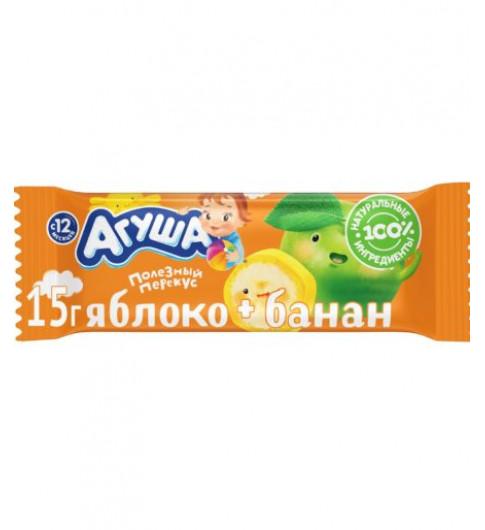 Агуша Фруктовые батончики «Яблоко Банан», 15 гр