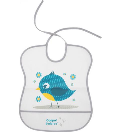 Canpol Babies Мягкий нагрудник на завязках, 6мес+