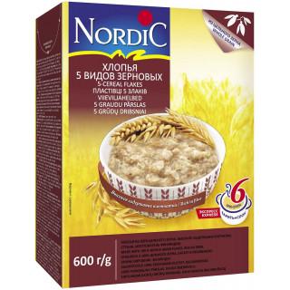 Nordic Хлопья пять видов зерновых, 600 гр