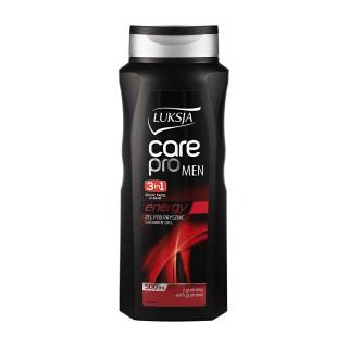 Luksja мужской гель для душа-шампунь 3 в 1, Energy, 500мл