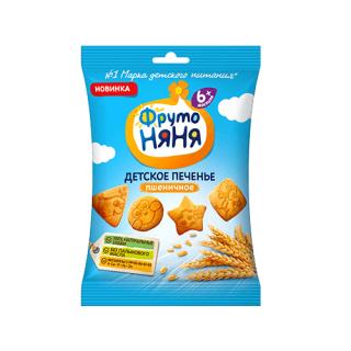Фрутоняня печенье «Пшеничное», 6мес+, 50 гр